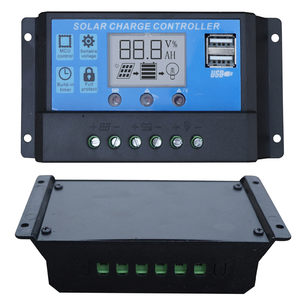 20a Lcd Solar Charge Controller 12v 24v Pwm Panel Battery Picture Of Charging Charger Regulator For Home Use Pv System