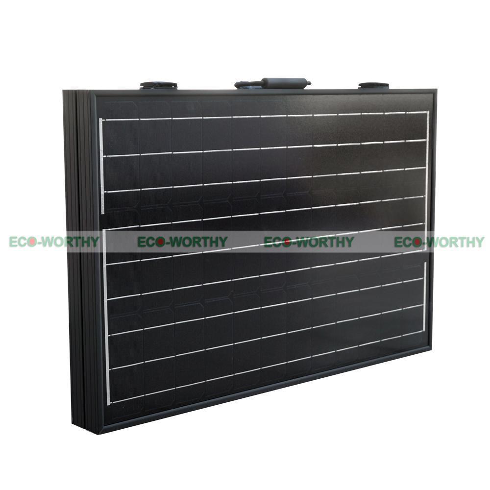 100W Mono Folding Foldable Solar Panel Complete Kit for 12V Battery Off Grid Solar Generators