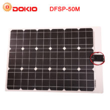 Dokio Brand China 50W Flexible Solar Panel + 12V Solar Panel Controller For Phone & Camping & Travel Portable Solar Battery